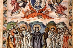 Tetravangelo di Rabbula, Ascensione, fol. 14b