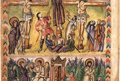 Tetravangelo di Rabbula, Crocifissione, fol. 13a